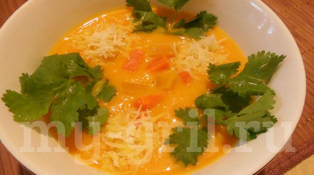 суп пюре из тыквы с сыром