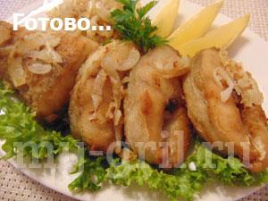 судак жареный на сковороде с луком
