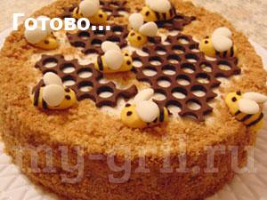 торт медовик рецепт с фото пошагово классический